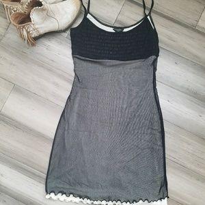 Guess Cami Dress Black And White Medium Nylon